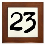The Number 23 Framed Tile