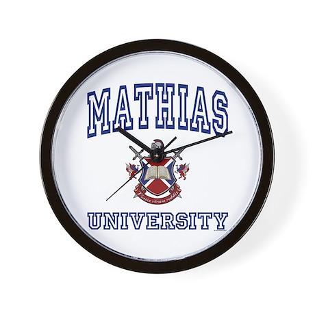 MATHIAS University Wall Clock