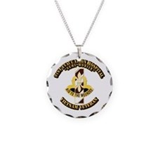 Army - 91st Evacuation Hospital Necklace Circle Ch
