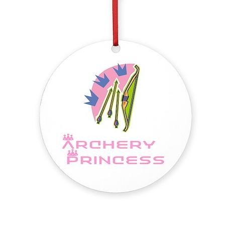 ArcheryChick Princess Ornament (Round)