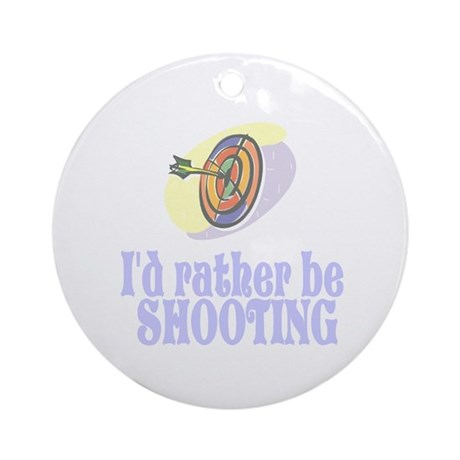 ArcheryChick Rather Ornament (Round)