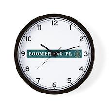 Boomerang Pl., Sydney (AU) Wall Clock