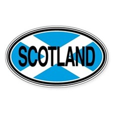 Scotland Full Text Euro Oval Bumper Stickers