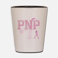 PNP initials, Pink Ribbon, Shot Glass