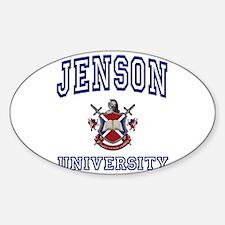 JENSON University Oval Decal