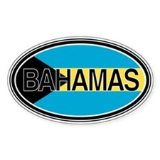 Bahamas Euro Oval Full Text Decal