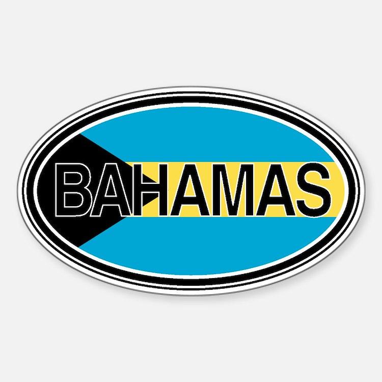 Bahamas Euro Oval Full Text Decal