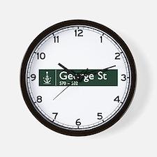 George St., Sydney (AU) Wall Clock