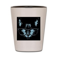 cat-glasses-blu-CRD Shot Glass