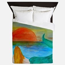 Sunset Mermaid Queen Duvet