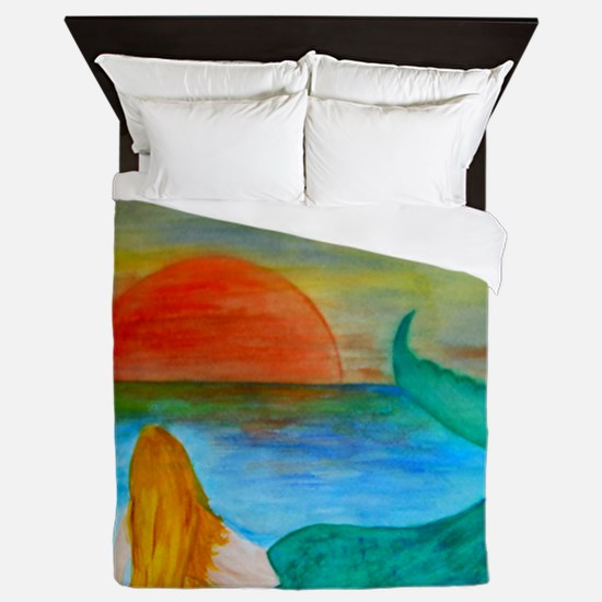Sunset Mermaid Queen Duvet