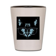 cat-glasses-blu-LG Shot Glass