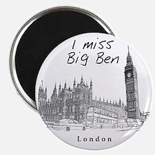 London_10x10_ImissBigBen_Black Magnet