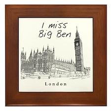 London_10x10_ImissBigBen_Black Framed Tile
