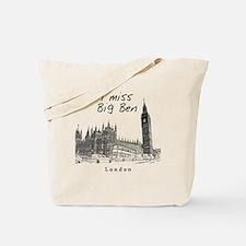 London_10x10_ImissBigBen_Black Tote Bag
