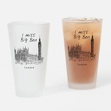 London_10x10_ImissBigBen_Black Drinking Glass