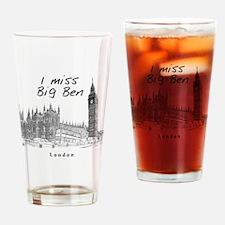 London_12x12_ImissBigBen_Black Drinking Glass