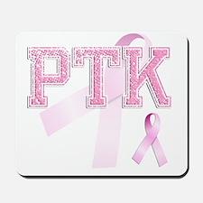 PTK initials, Pink Ribbon, Mousepad