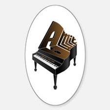 Amir grand piano Oval Decal