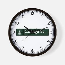 College St., Sydney (AU) Wall Clock