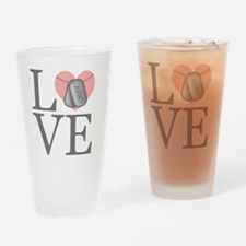 Army Love Drinking Glass