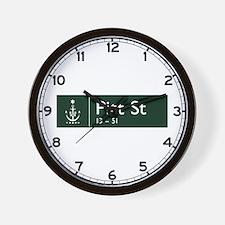 Pitt St., Sydney (AU) Wall Clock