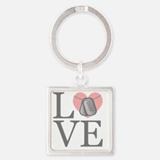 USAF Love Square Keychain