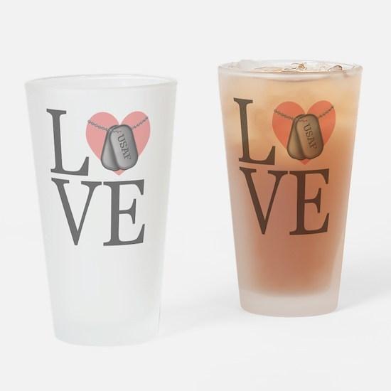 USAF Love Drinking Glass