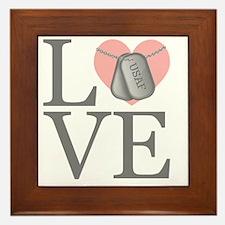 USAF Love Framed Tile