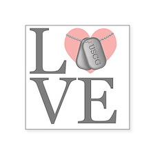 """USCG Love Square Sticker 3"""" x 3"""""""