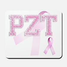PZT initials, Pink Ribbon, Mousepad