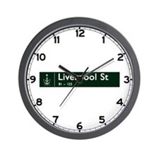 Liverpool St., Sydney (AU) Wall Clock