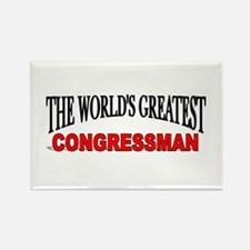 """The World's Greatest congressman"" Rectangle Magne"