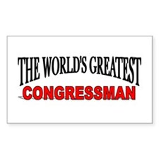 """The World's Greatest congressman"" Decal"