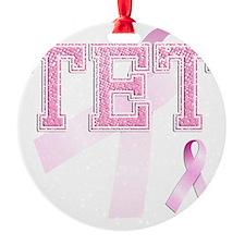 TET initials, Pink Ribbon, Ornament