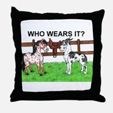 C Mrlqn Who Wears It? Throw Pillow