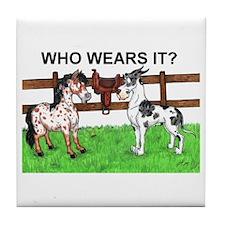 C Mrlqn Who Wears It? Tile Coaster