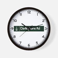 Darlinghurst Rd., Sydney (AU) Wall Clock