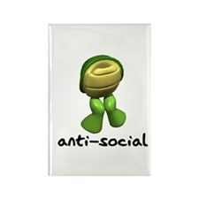 Funny Anti-Social Turtle Rectangle Magnet