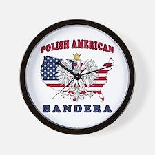 Bandera Texas Polish Wall Clock