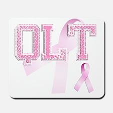 QLT initials, Pink Ribbon, Mousepad