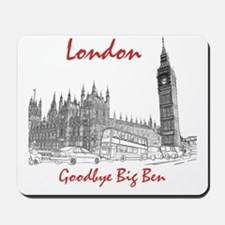 London_10x10_BigBen_Goodbye_BrownBlack Mousepad
