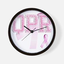 QPR initials, Pink Ribbon, Wall Clock