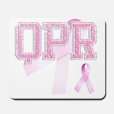 QPR initials, Pink Ribbon, Mousepad