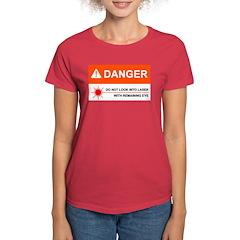 DANGER Women's Red T-Shirt