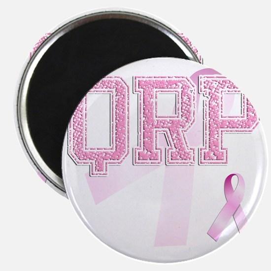 QRP initials, Pink Ribbon, Magnet