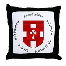 Reformed Five Solas Throw Pillow