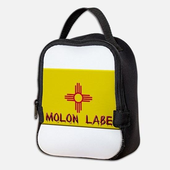 New Mexico Flag Molon Labe Neoprene Lunch Bag