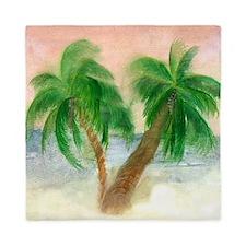 Twin Palms Queen Duvet