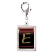 """E"" Silver Portrait Charm"
